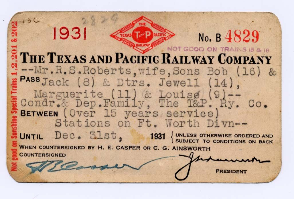 Texasandpacific Trainpass Rs Roberts Family Front Jpg 1027 694