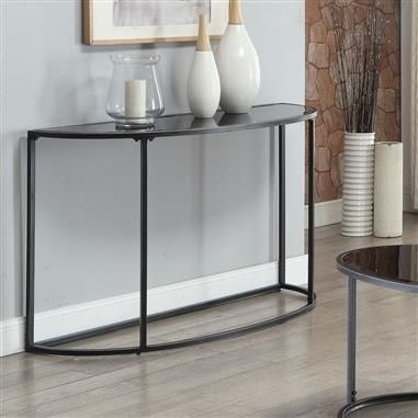 Chrome Base Glass Top Console Table Console Table Glass Console Table Contemporary Console Table