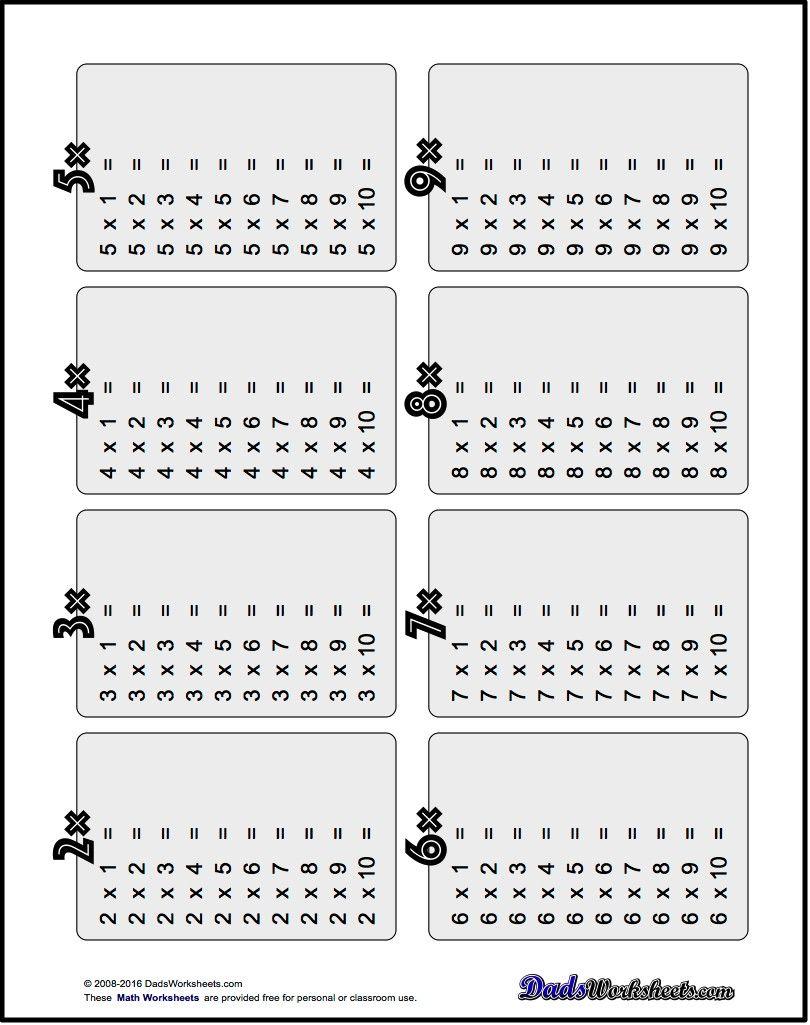 Multiplication Table Worksheet Table Pinterest Multiplication