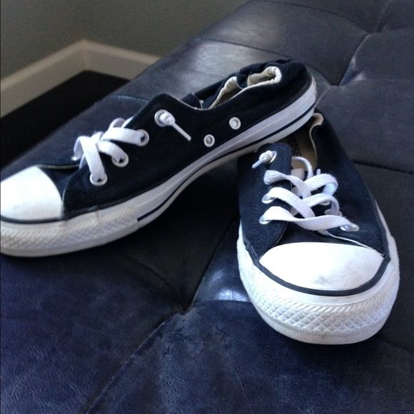Converse low tops women's 9 Converse low tops women's 9. Gently used. Outgrew them during pregnancy. In great condition. They are the style with scrunchy back (see picture) Converse Shoes Sneakers