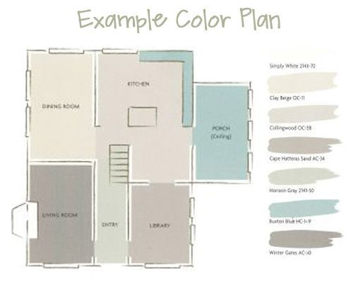 Awesome A Whole House Paint Color Plan   Draw Floor Plan To See How Color Flows From