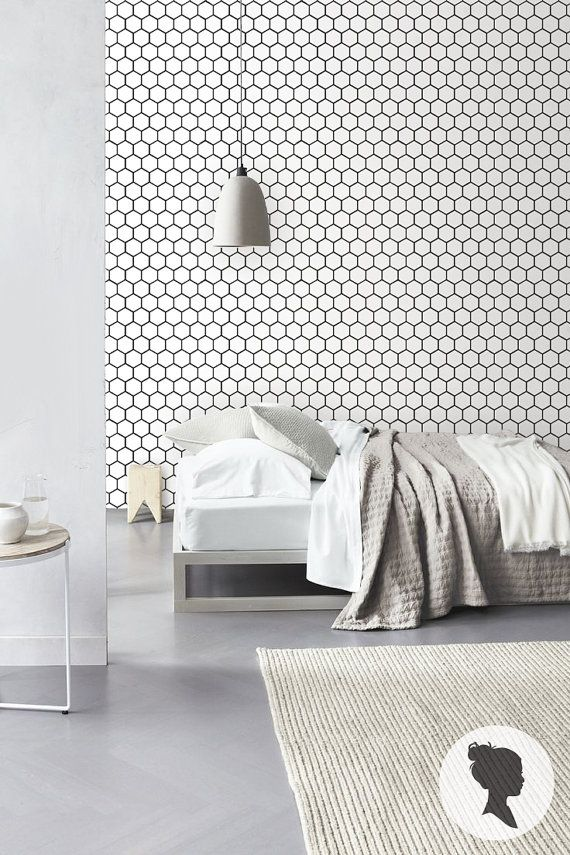 Honeycomb Pattern Self Adhesive Vinyl Wallpaper D203 By Livettes, $34.00 On  Etsy