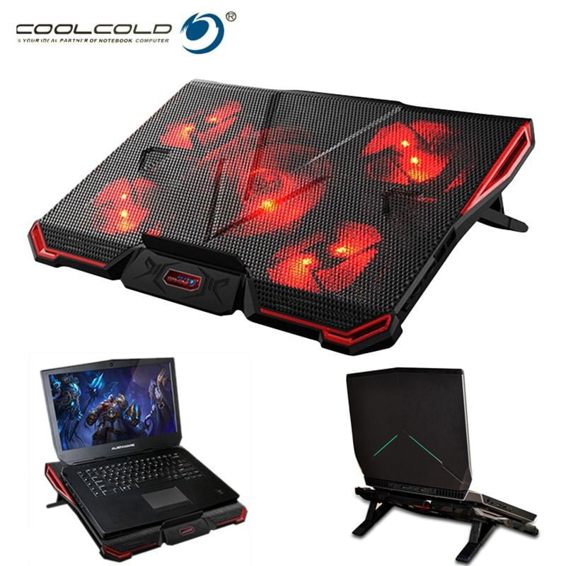 Coolcold Notebook Pc Cooler Laptop Cooling Pad Stand Air Cooled 5