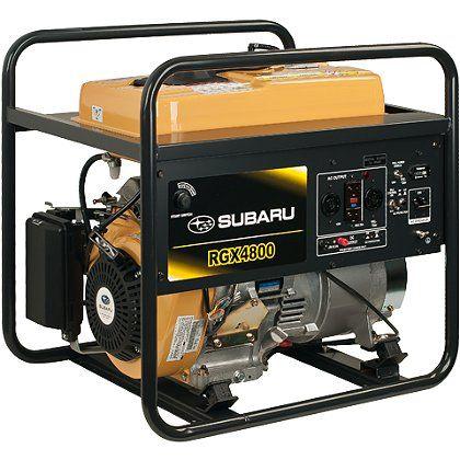 Subaru Rgx4800 Industrial Generator Electric Start W Recoil Backup 120 240v 12v Dc Charger 6 Hour Run Time Industrial Generators Subaru The Fire Store