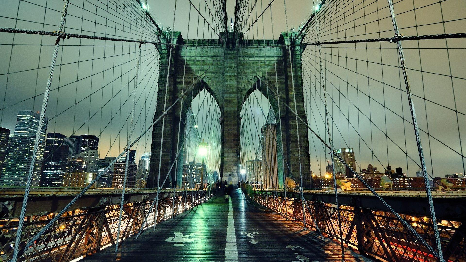 Обои Brooklyn bridge, new york, бруклинский мост. Города foto 11