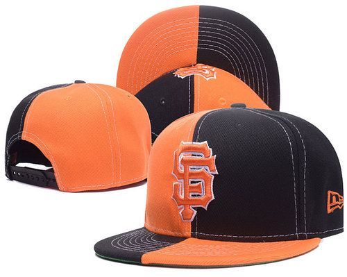 06009c106d6 San Francisco Giants Two color split Snapback Hats