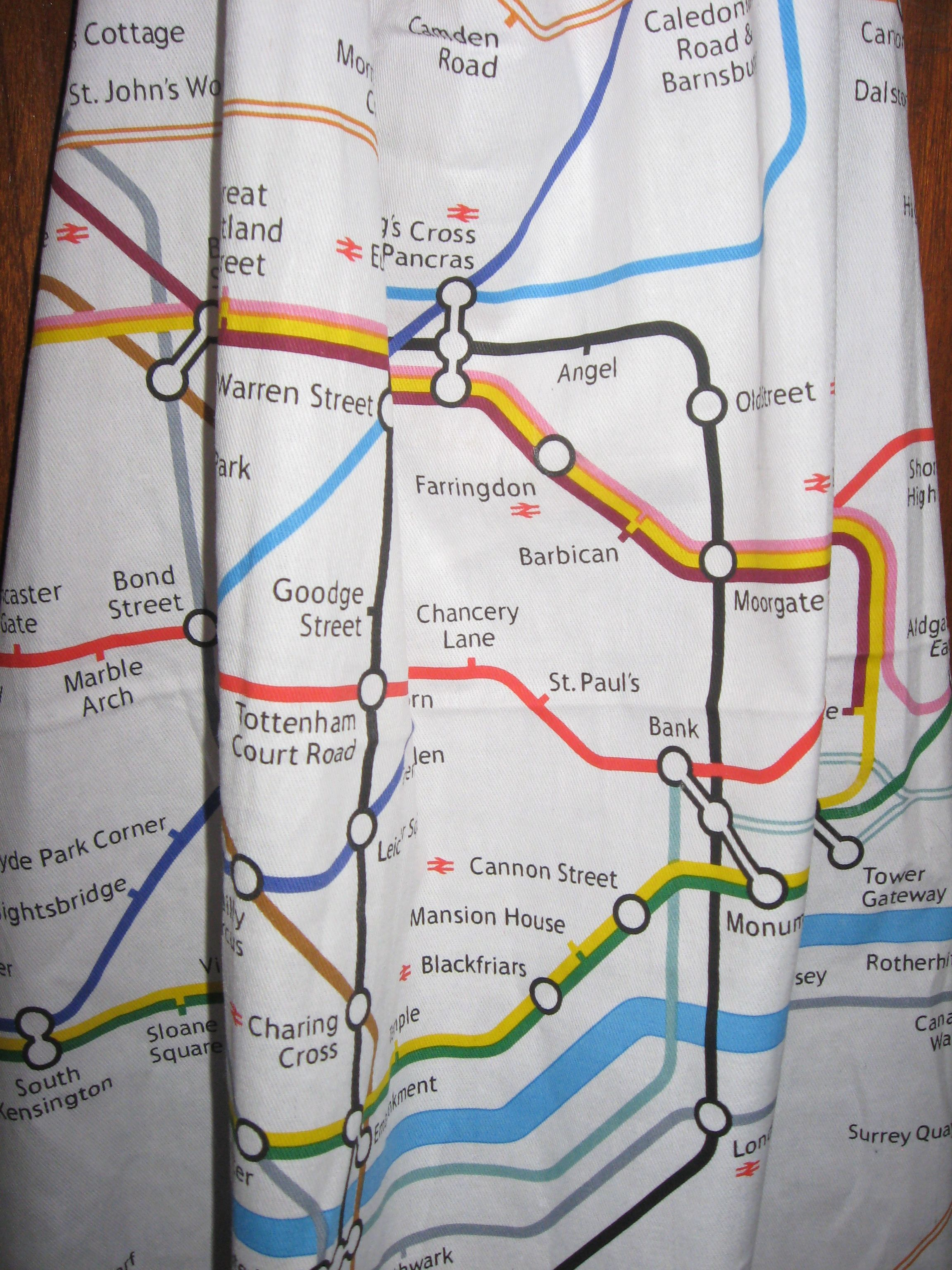 A map of the London Underground fondly