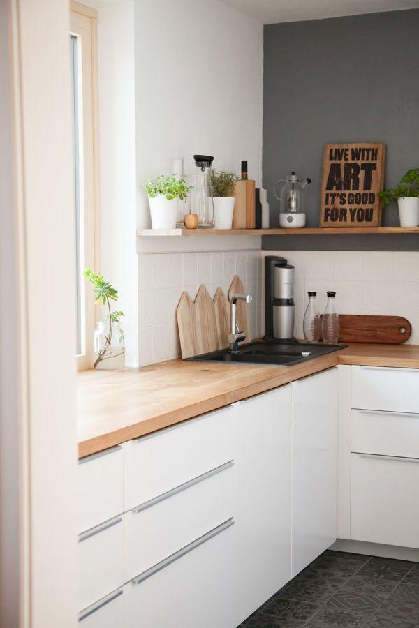 Rajouter une étagère en bois   Cuisine appartement, Idée ...