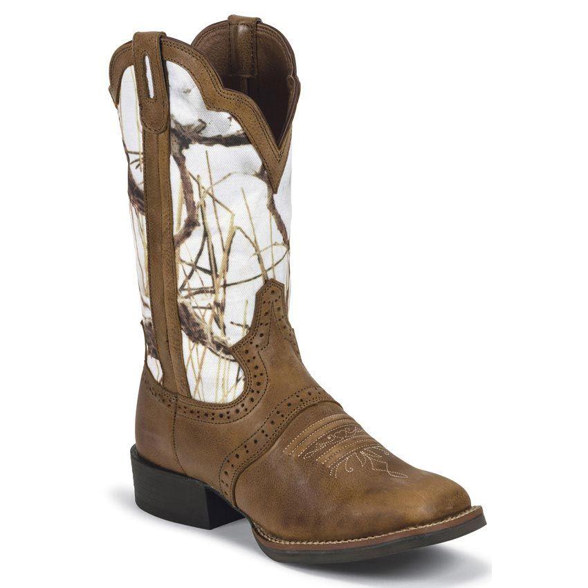 Justin Women S Stampede Cattleman Western Boots White