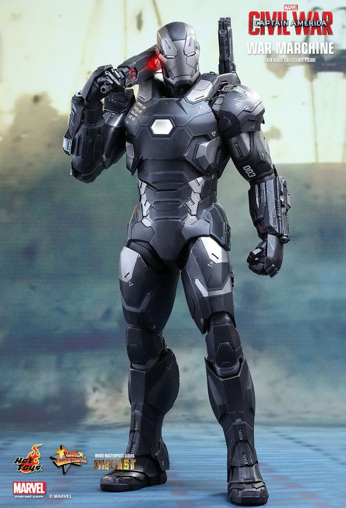 Pre-Order] Hot Toys - Captain America: Civil War - War Machine Mark ...