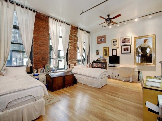 Whoopi Goldberg's loft in the SoHo neighborhood of New York City features  exposed brick walls associated. Soho LoftWhoopi GoldbergWindow  CoveringsWindow ...
