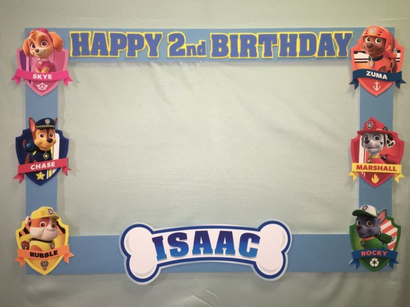 Photo Booth Frame To Take Pictures Paw Patrol Birthday | Pinterest ...