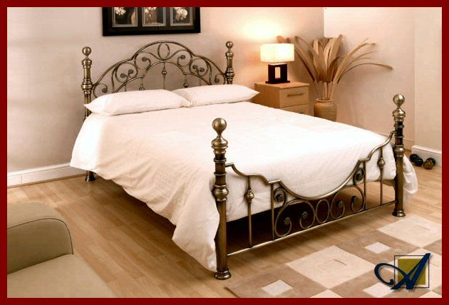 Florence Antique Brass Finish Bedstead From 349 Free Delivery