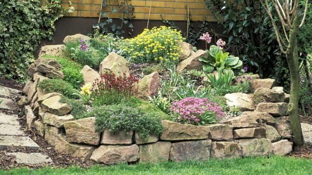 Wunderbar Für Einen Steingarten Eignen Sich Hügel Und Hang