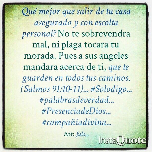 Salir tranquilo por la compañia de Dios... #Solodigo... #palabrasdeverdad... #PresenciadeDios... #compañiadivina...
