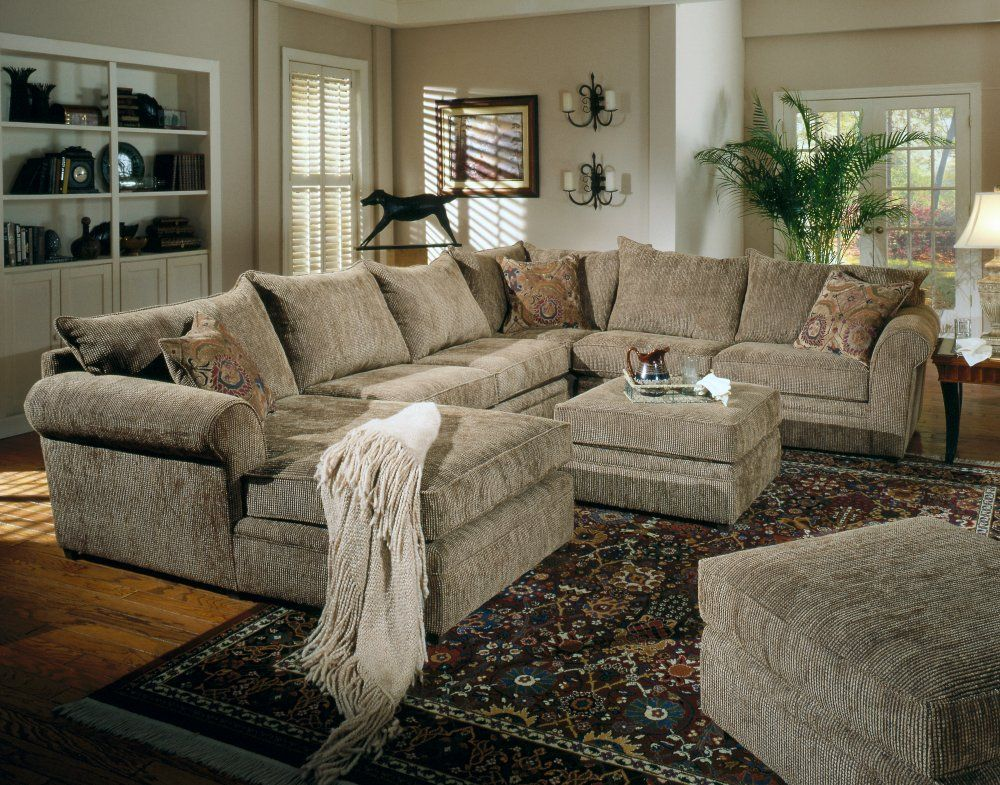 fabric sectional sofa set 2 piece in sage chenille. Black Bedroom Furniture Sets. Home Design Ideas