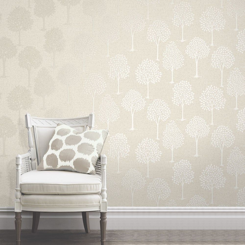 Hallway furniture b&m  Quartz Tree Wallpaper Gold FD  House decorating begins