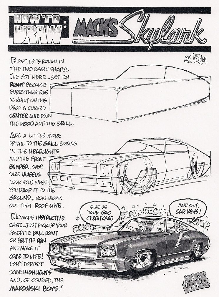 how to draw cartoon cars