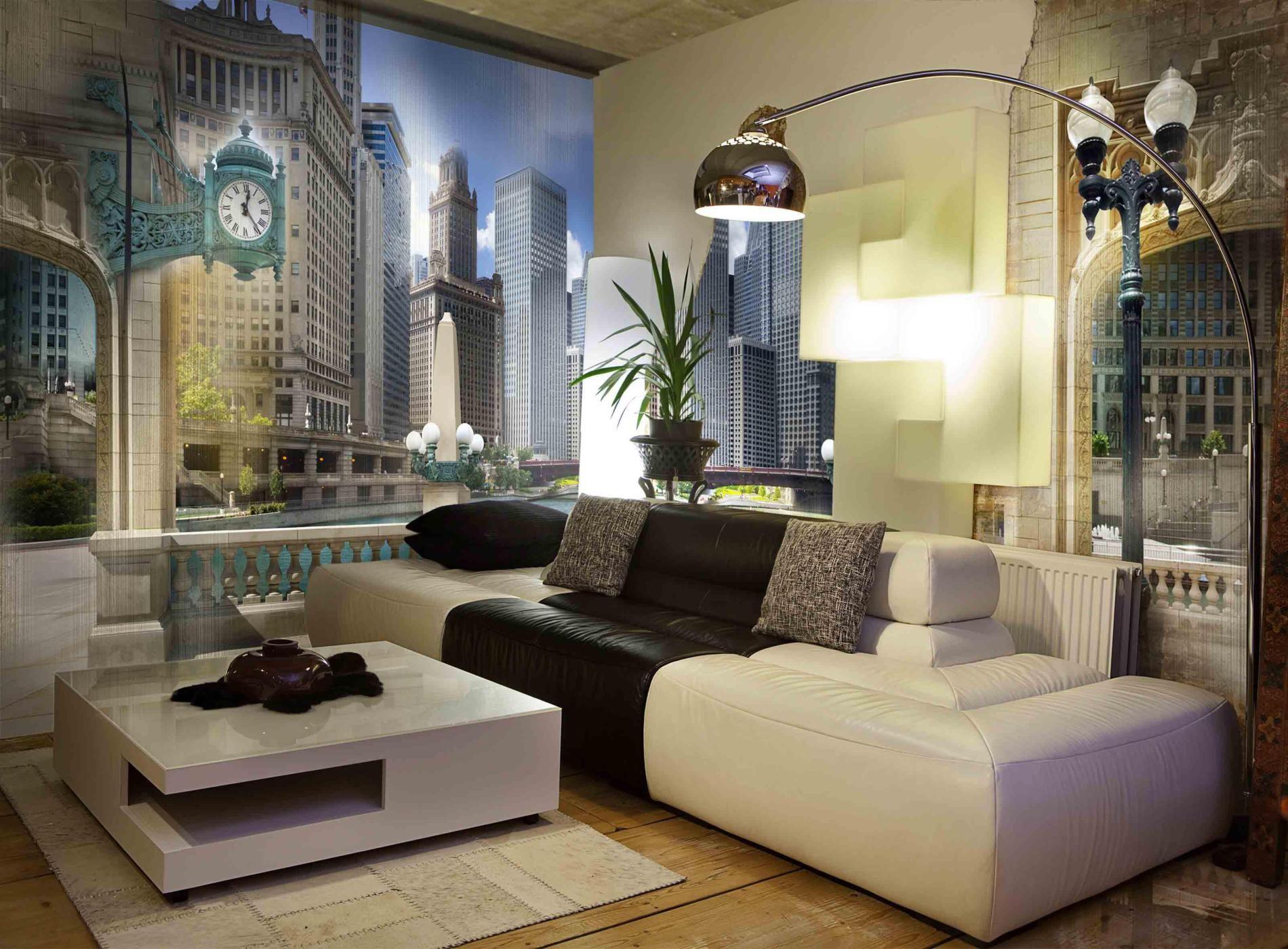 living room : Black Tree And Birds Living Room Wall Murals ...