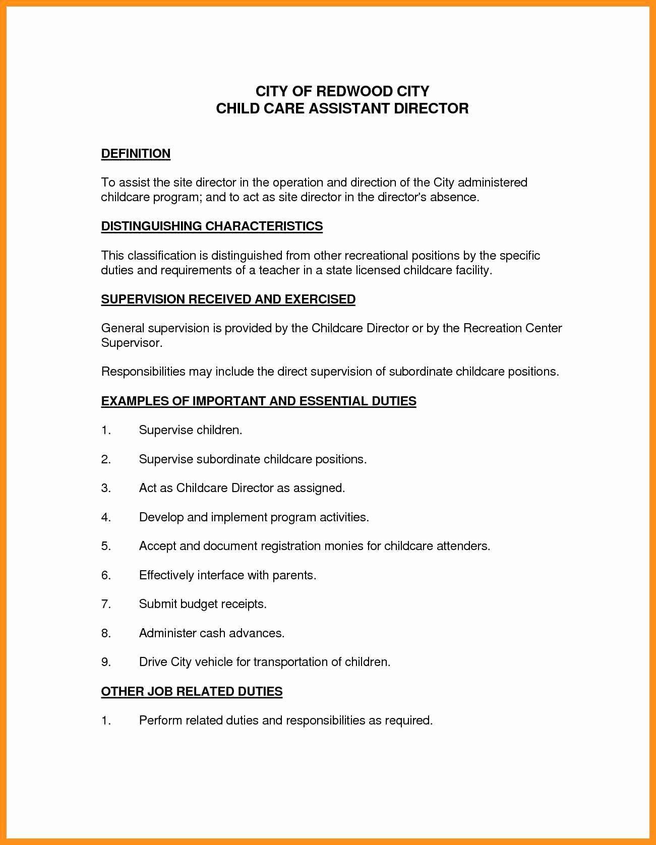 25 Child Care Resume Duties Job Resume Samples Resume