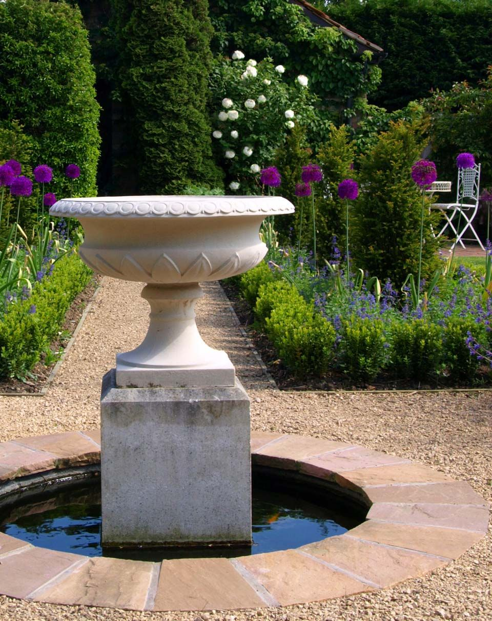 Gorgeous Images Of Country French Garden Decorating Design ... on Home Garden Fountain Design id=86845