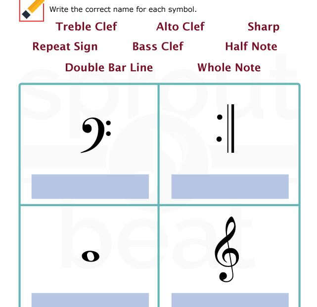 Music Worksheets Musical Terms And Symbols 008 Preschool