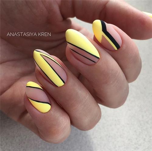 Amazing Summer Matte Nails Art Ideas #mattenails