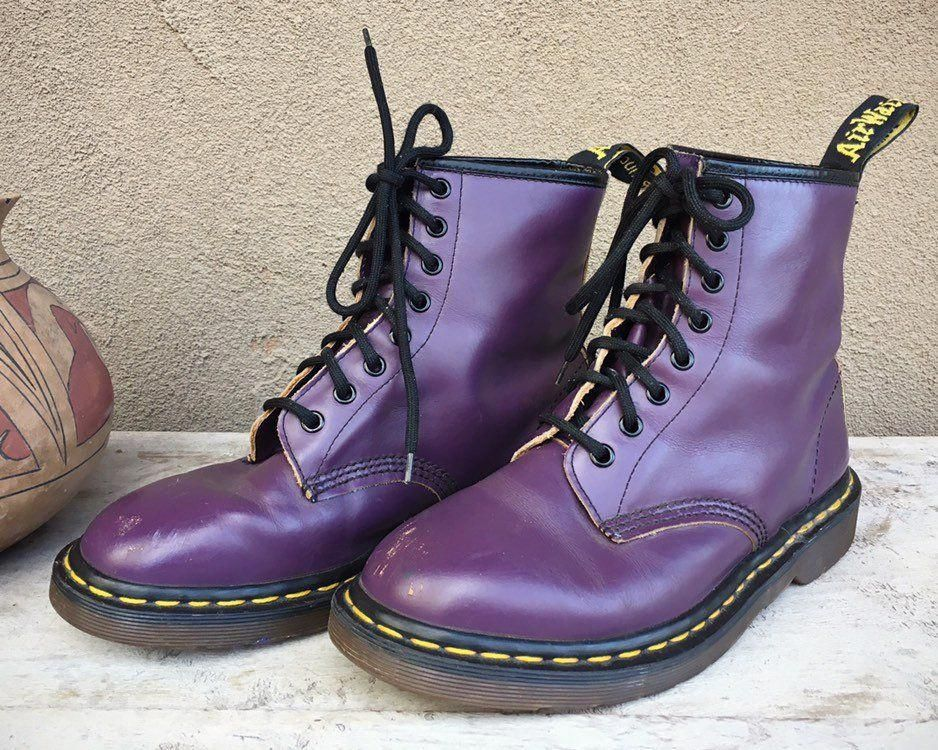 Made in England Dr Martens Boots Purple