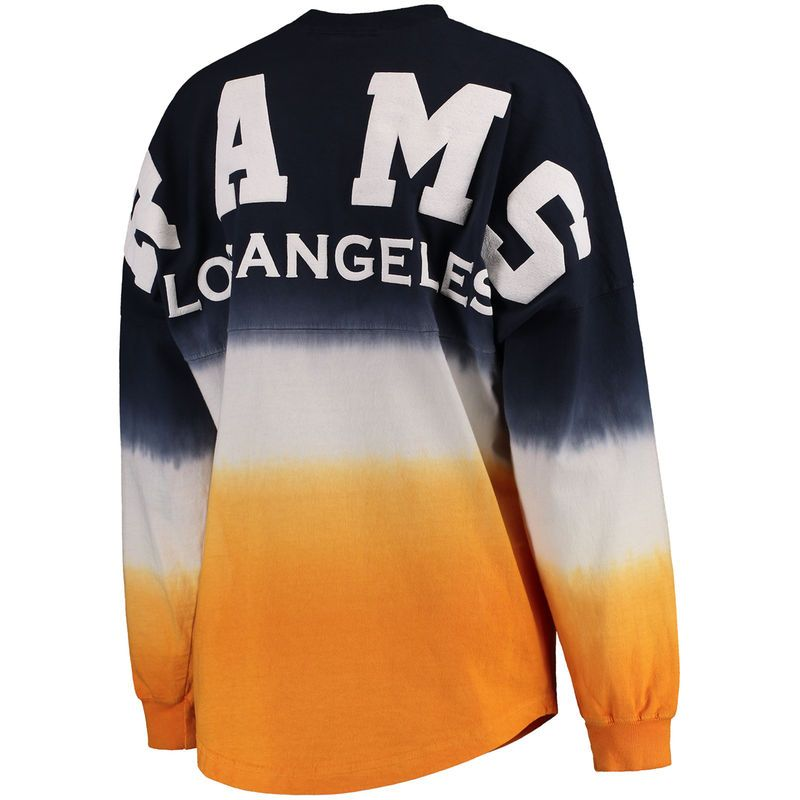 Women s NFL Pro Line by Fanatics Branded Navy Gold Los Angeles Rams Spirit  Jersey Long Sleeve T-Shirt 05bf6f612