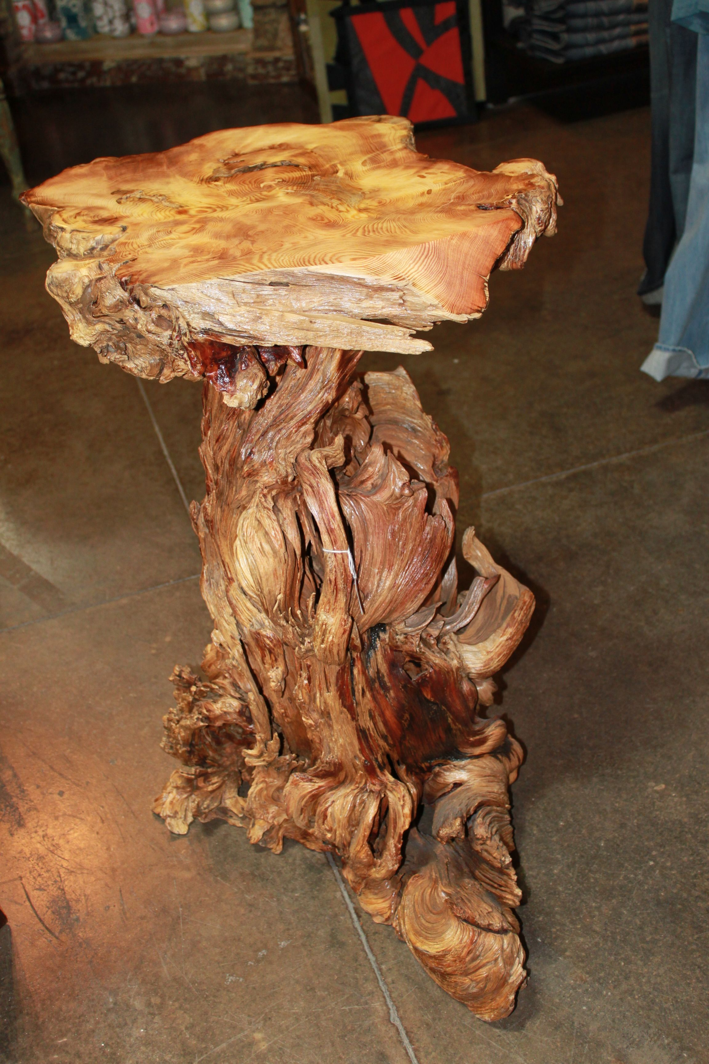 Tree Trunk End Table $650.  CRAZY Randy Can Make One For About 200!!
