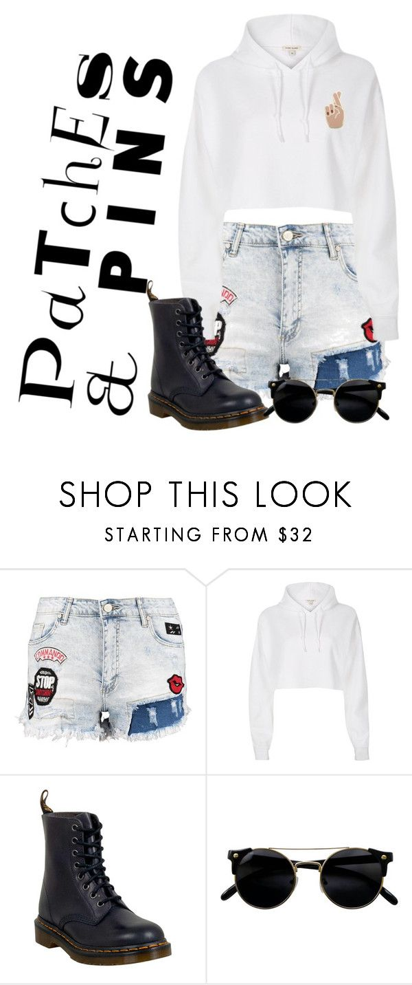 """""""Untitled #692"""" by miracle-alsina ❤ liked on Polyvore featuring River Island, Dr. Martens, Georgia Perry and patchesandpins"""