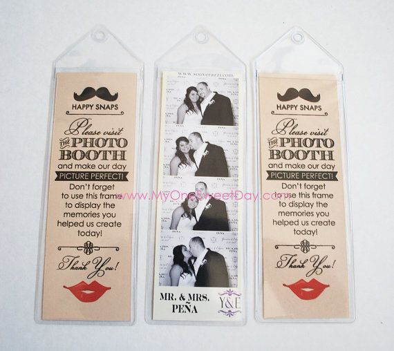 2x6 photo strip bookmark photo booth Party Favor lips and mustache ...