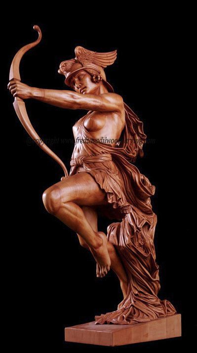 Archer Wood Carving By Fred Zavadil