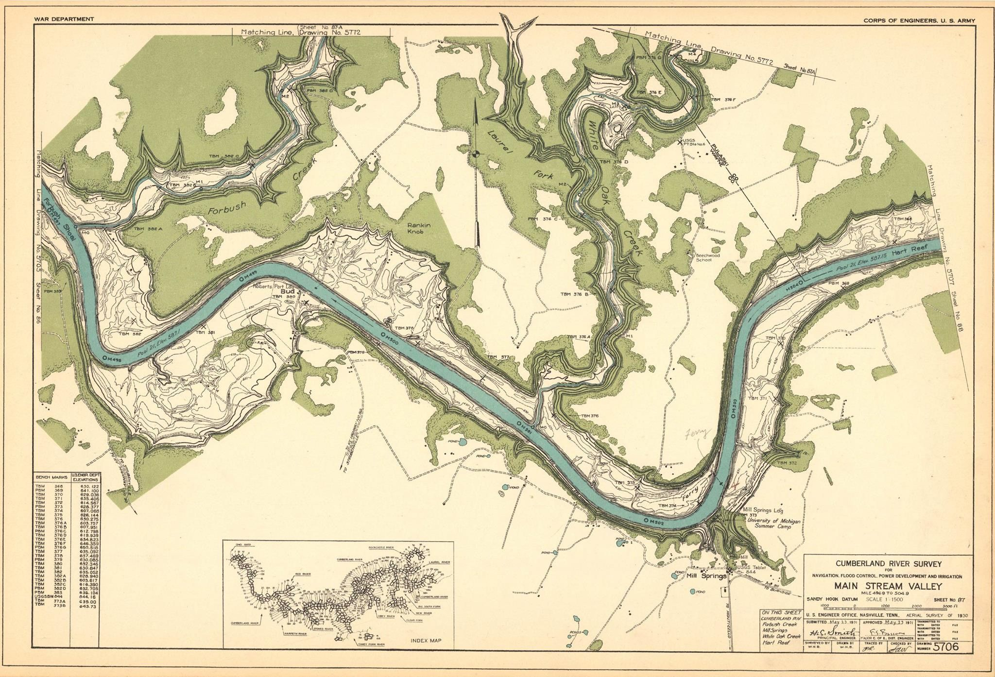 Old Cumberland River- later Lake Cumberland map | Old Burnside, KY ...