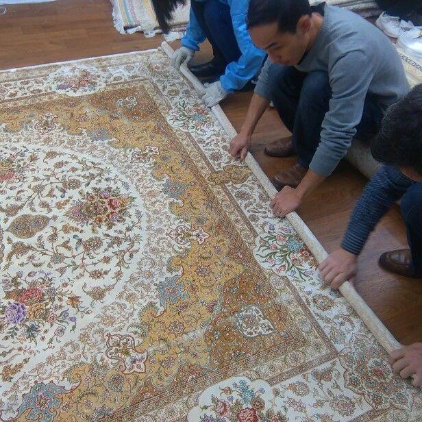 Nice Turkish design handmade silk carpet