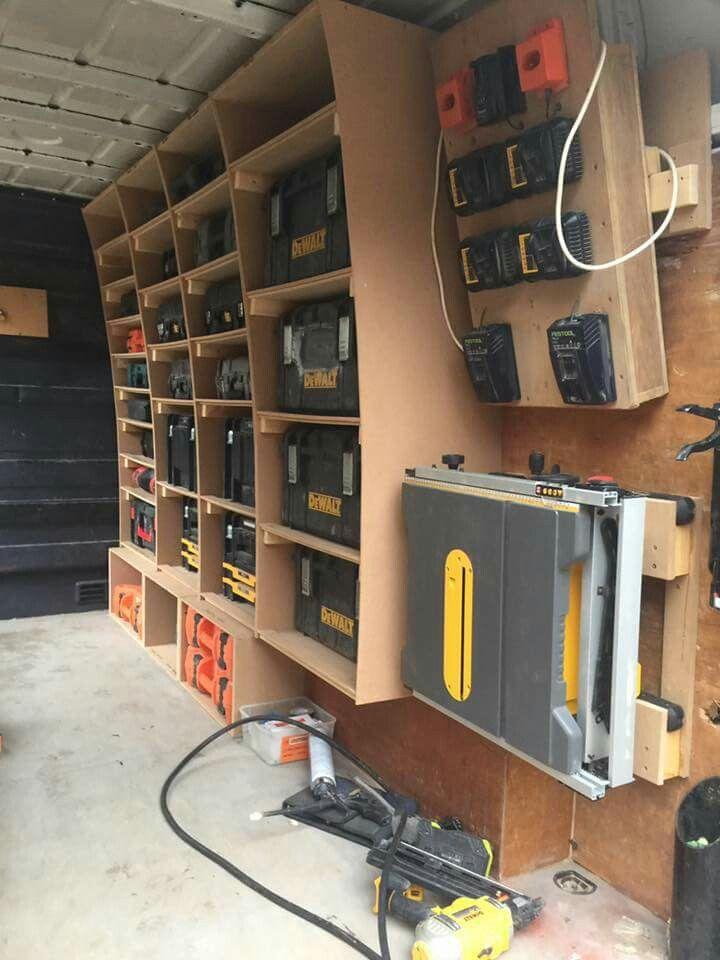 Atelier Idei De 238 Ncercat Garage Workshop Van Storage