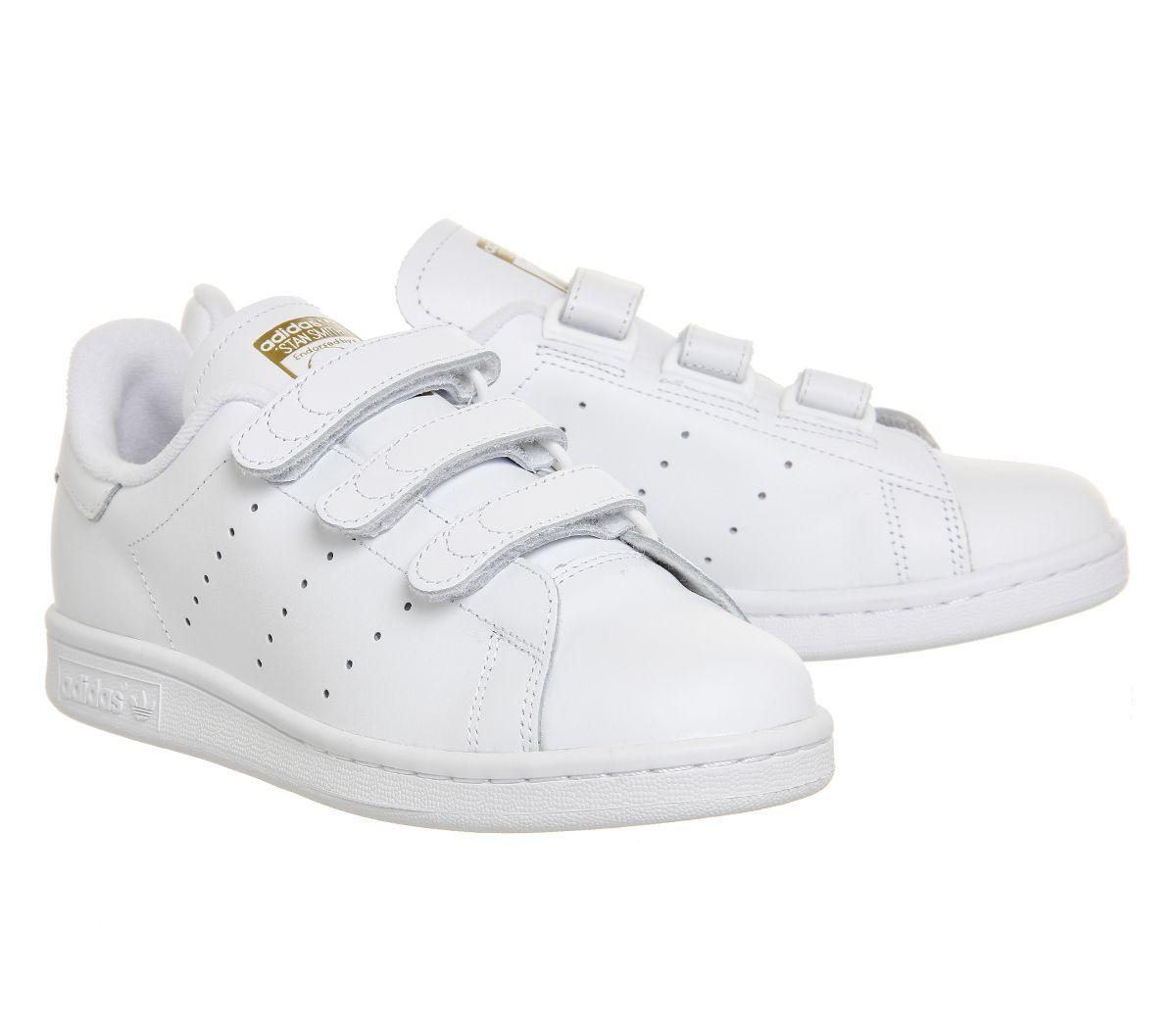 adidas Stan Smith Cf White White Gold Metallic - Unisex Sports