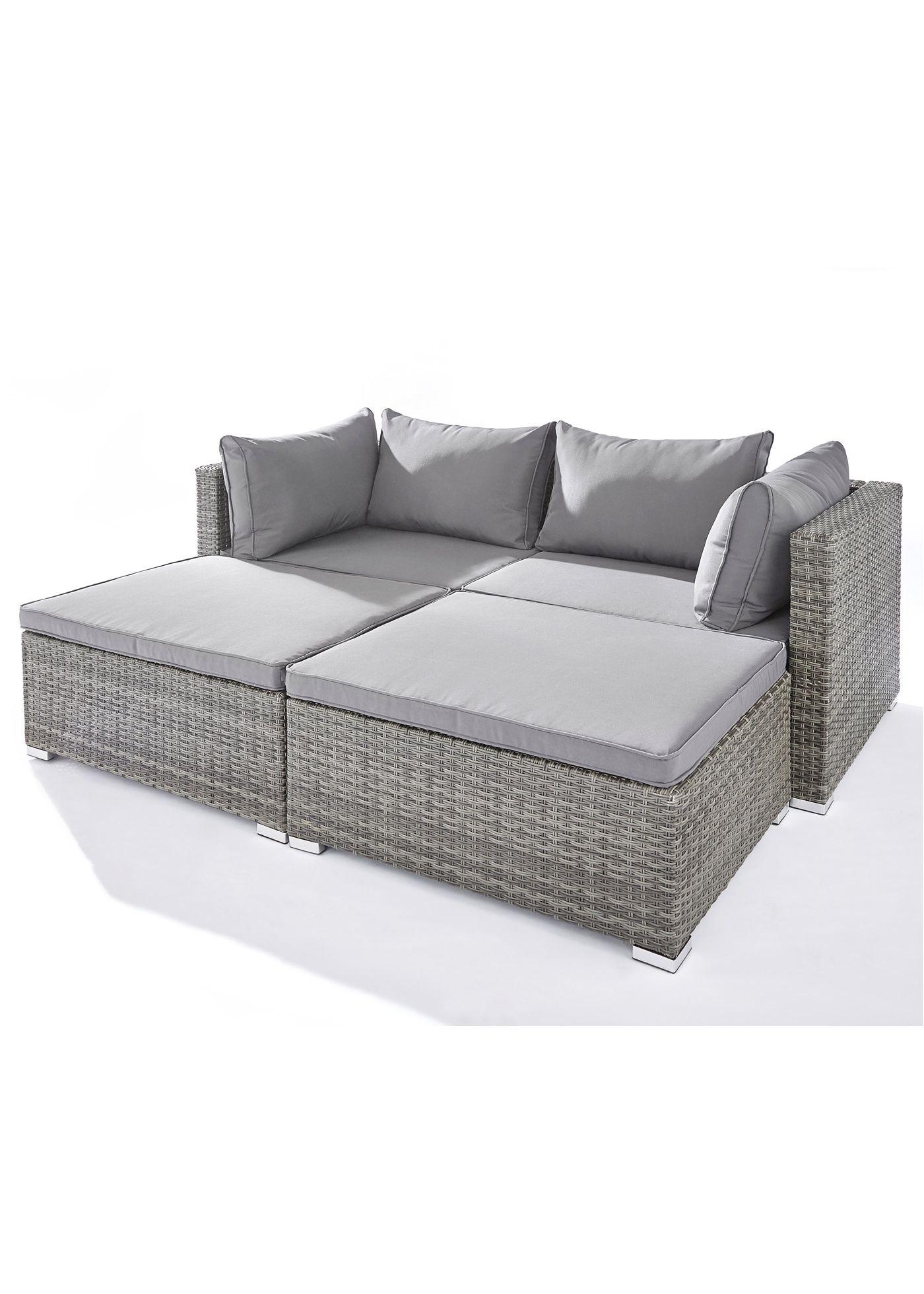 Viele Unterschiedliche Moglichkeiten Diese Elemente Zu Stellen Sehr Bequem Grau In 2021 Gartenmobel Mobel 2 Sitzer Sofa