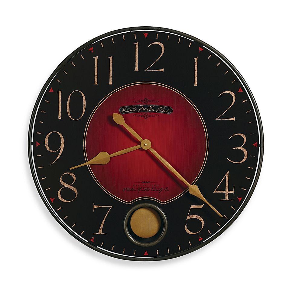 Howard Miller Harmon Gallery 26 Inch Wall Clock Red Wall Clock Gallery Wall Clock Howard Miller Wall Clock