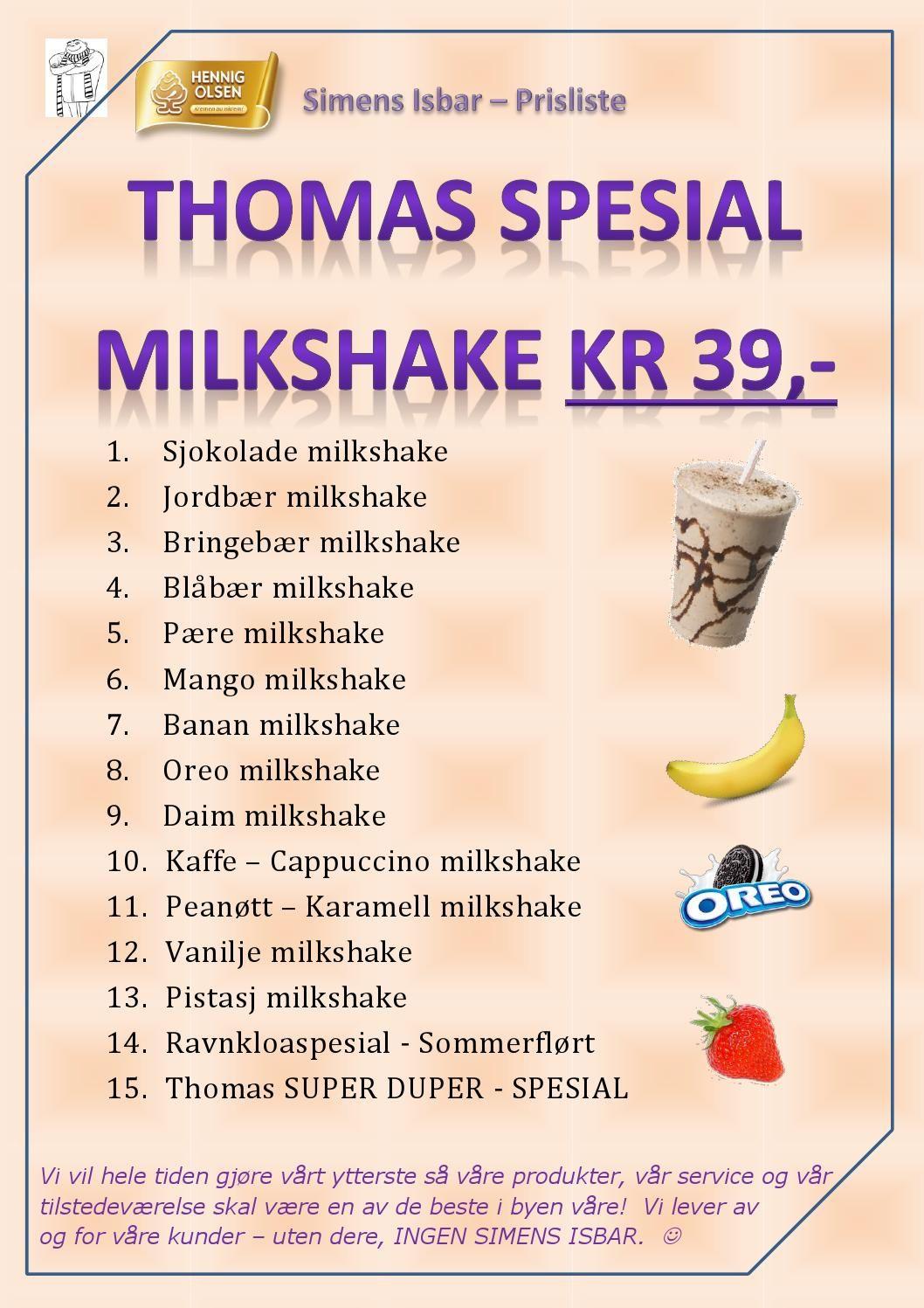 Milkshake Simens Isbar