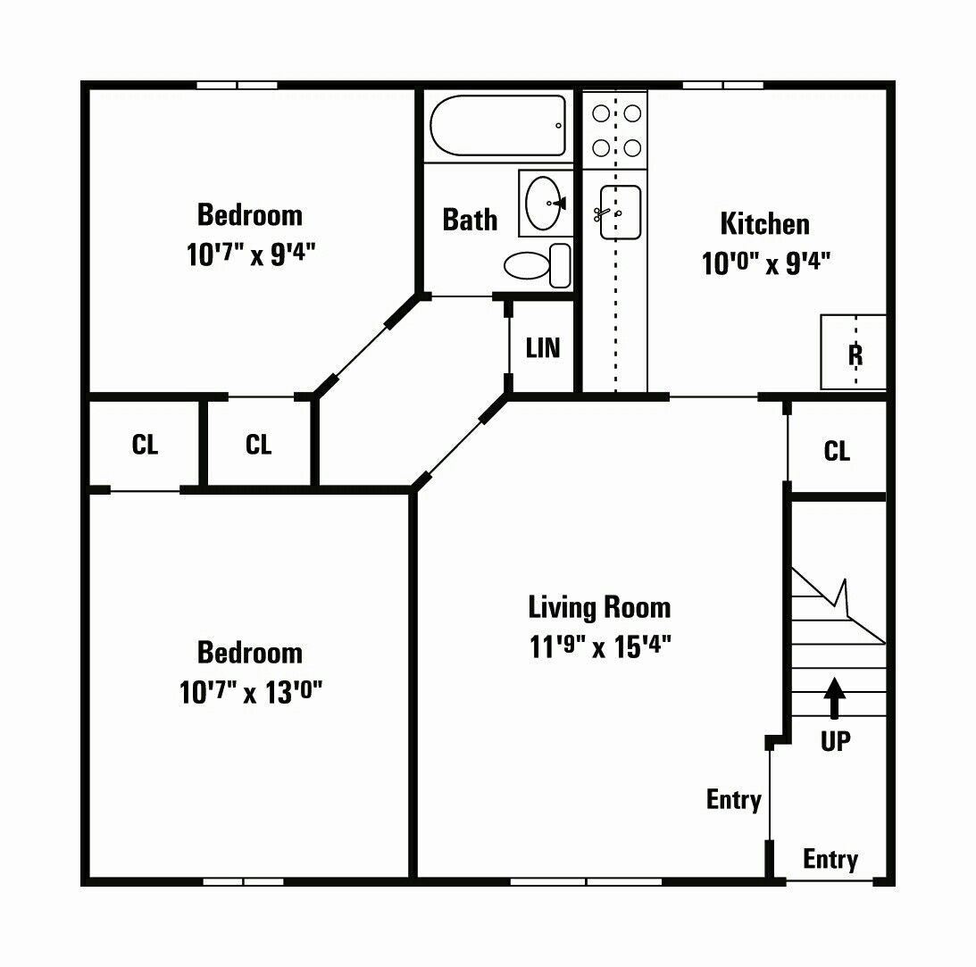 600 Sq Ft House Plan 500 Sq Ft House Small House Floor Plans