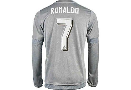 adidas Cristiano Ronaldo Real Madrid L S Away Jersey 2015-16  3a22019ae