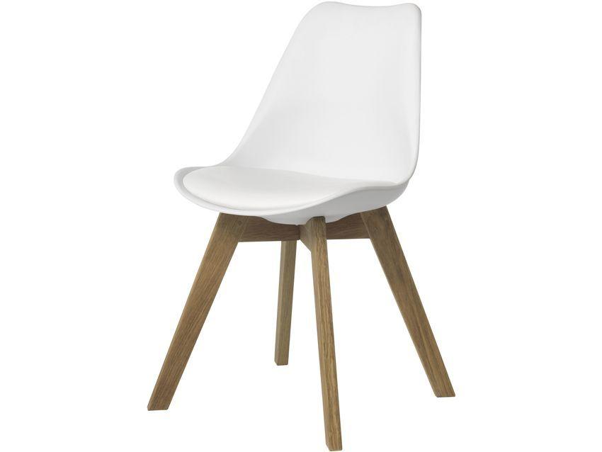 Duke Genoa White Shell Chair   Lee Longlands