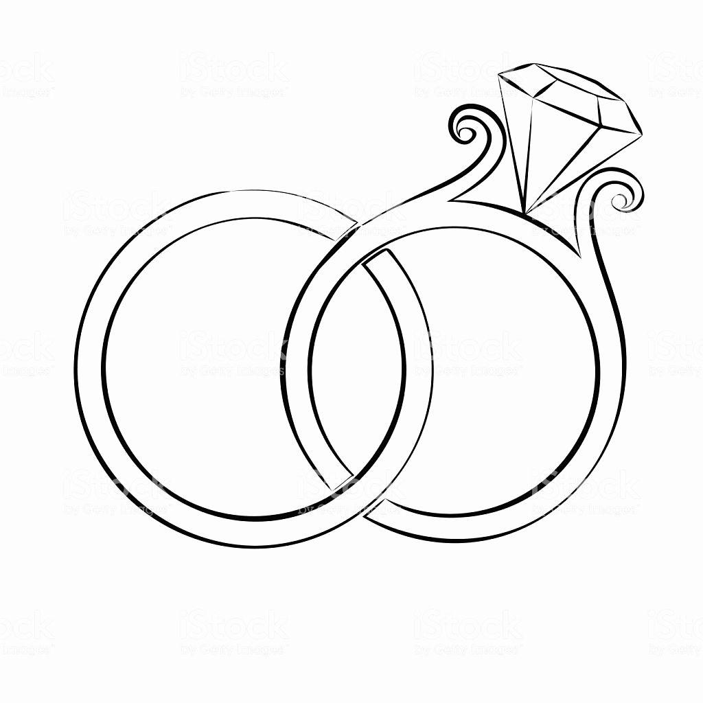 Cute Wedding Ring Drawing