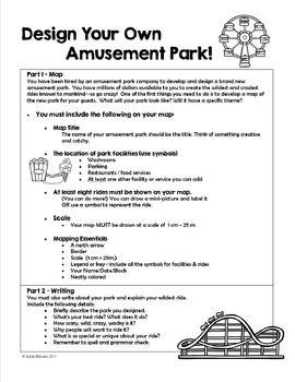Map Skills - Design Your Own Amut Park | design amut park ... on