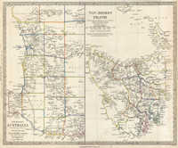 This Is A Really Old And Really Cool Historical Map Of Tasmania From - Old map shop
