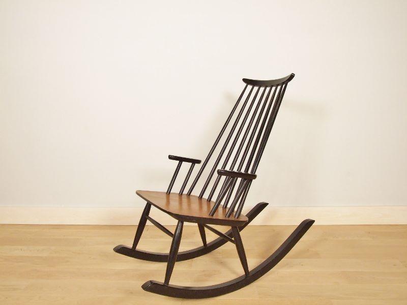Pitaya Sedie ~ Sedia a dondolo in rattan pétunia rattan rocking chair
