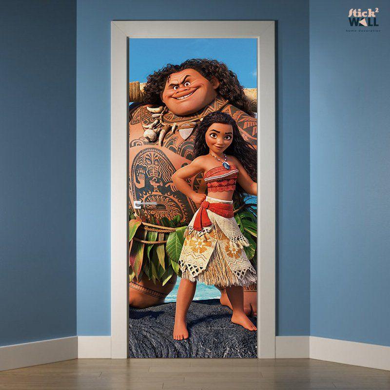 moana  door sticker decal for decoration of kids bedroom