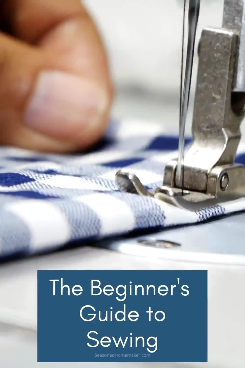 Want to learn to sew but don't know where to start? The Beginner