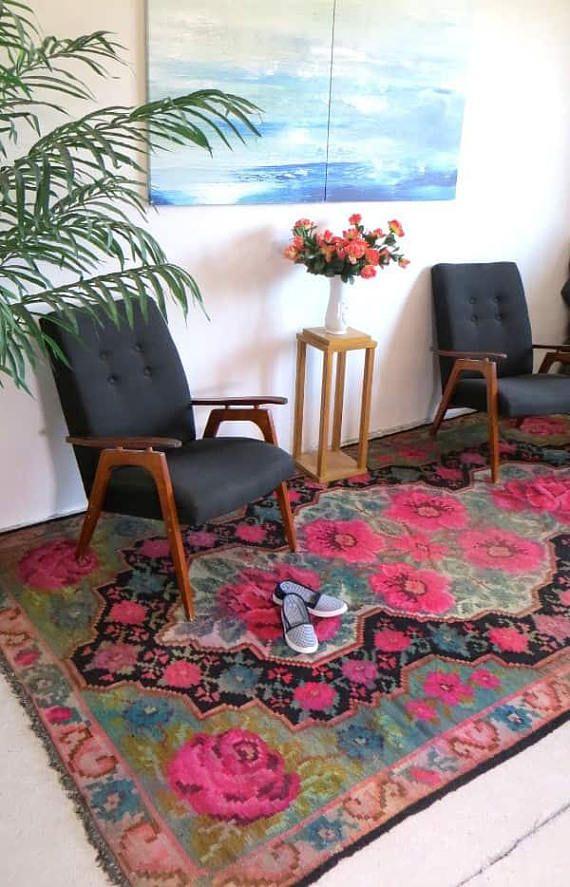 teppich rosa teppich bunt berber teppich kelim teppich teppiche ...
